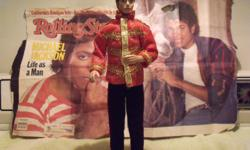 MICHAEL JACKSON DOLL (barbie size) DRESSED IN RED MILITARY PRINCE OUTFIT IN GOOD CONDITION ONE OWNER NO BOX. MANY NEWSPAPER CLIPPINGS $50.00 OBO. CALL 573-631-9350 LEAVE MESSAGE.