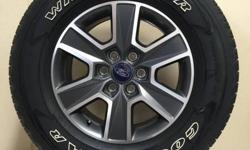 "FORD F-150 18"" WHEELS WRAPPED IN 275/65/R18 GOODYEAR WRANGLER TIRES!!!   ALSO IN STOCK NEW AND USED WHEEL AND TIRE PULL OFFS FOR CHEVY TRUCKS,CAMARO,CORVETTE,FORD TRUCKS,MUSTANG,DODGE RAM,CHARGER,CHALLENGER,JEEP WRANGLER,RUBICON,SAHARA,TOYOTA,NISSAN"
