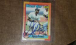 i have a frank thomas autographed baseball card topps # 414 rokkie card need money are wouldnt get rid of will take offers call 309 948 3266 are text