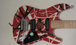 This is a nice finished project guitar, handpainted by a professional artist. This guitar was modified by music professionals. At the asking price, I am actually losing money on this one. The actual location of this item is in Conway. The only