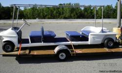 15 ft. Golf cart / 8 passenger / new 6.5 gas motor / 15ft. Trailer-(free with purchase) great for Weddings, Parades, etc. 3,000.00 O.B.O. Call Steve @ -- please contact by phone. NEED TO SALE