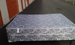 Full size mattress, box springs & frame. Contact Richard at --