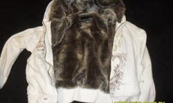 Rue 21.... white and brown.... zipper works and looks like new....small in size