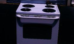 GE Standard Top Stove White Electric $100 Like new used less than 2 month before it was replace by a flat top stove. See Pictures robe370@aol.com