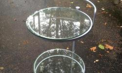 """beautiful two tiered glass rolling bar. stands 34.5"""" high."""