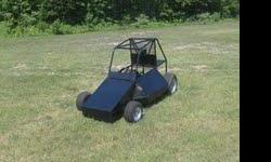 "Go-Cart/Race Cart  suspension front end, disk brake rear end with Roll Cage Large enough for adult - This Cart is built with approximately 2"" roll cage - very heavy duty needs some work comes with engine - Engine needs to be put on cart 8hp Briggs &"
