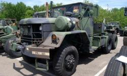 6) Government rebuilt 1985 M818 tractor trucks. All include 250 Cummins engines, NEW soft tops, NEW tires & air over hydraulic brakes. GREAT for logging!! ALL WHEEL drive & HEATING allows these trucks to operate ANYWHERE in ANY WHEATHER!! Can pull OVER