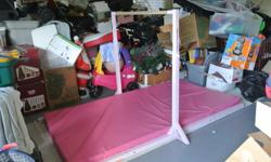 Like New-Hardly Used-Gymnastics Horizontal Bar Set with 4.5 inch pad!  Save Hundreds --In Great Condition!