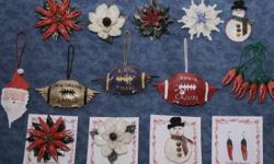 Cajuns Ornaments made from Real Crawfish Claws,Crabs Shells,Garfish Scales,Redfish Scales. in South Louisiana Cajun Country all from the Gulf of Mexico. Go to www.cajunornaments.com/ see our specials too. Buy 5 get 1 Free