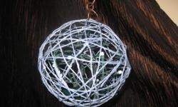 Hand made tree ornament color bluewithwhitelights. Also available in red and green