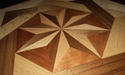 "Beautiful Star Medallion in two sizes, 22"" or 31"",  22""  Medallion at $ 200.00 and the 31"" Medallion at $225.00 The medallion has Black Walnut , American Cherry, and Red Oak. If you are interested in this product call -- Thank you."