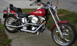 Immaculate collector addition. Evolution 1340cc engine. Totally chromed out and updated. $1,300 Renegade chrome front wheel. $800 Donny Gray custom seat. Removable wind shield and saddle bags. BONUS: All the original parts will go with the sale if buyer