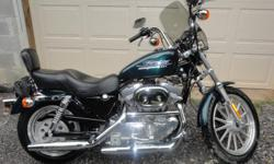 2001 Harley Davidson Sportster 883  (green) has 2 seater  miles 8,956 . new oil change   Needs rear tire.  In very good shape .