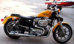 EXCELLENT CONDITION CANARY YELLOW 1988 HARLEY XLH-883. GARAGE KEPT. NEW CUSTOM CORBIN SEAT. NEW IGNITION SWITCH. A MUST SEE!! PLEASE SERIOUS INQUIRIES ONLY CALL FOR MORE DETAILS.