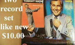 This is a 2 LP record set. Both records and the jacket are like new. It includes over 30 of the more famous guests on The Tonight Show. I'll ship it for $2.00 for a total of $12.00. I accept PayPal.