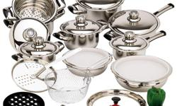 We have a variety cookware at low affordable prices, Choose from Stainless Steel, Waterless, and Nonstick Cookware. We also have cooking and dining accessories. For more info goto http://dlponlinestore2.com/index.php?route=product/category&path=35 Or