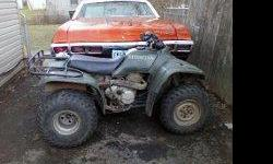 HONDA 300 4 TRAX ASKING $600 OBO. RUN REALLY GOOD JUST NEED BREAK REPLACE. I HAVE A SETFOR FREE JUST HAVENT HAD THE TIME 2 INSTALL THEM. I CAN BE REACH @--