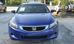 DRIVE THIS BEAUTIFUL BLUE COUPE TO THE PINIC/BEACH/SOCCER GAMES/FOOTBALL.OR JUST ANYWHERE YOU DESIRE CAUSE YOU WILL LOVE DRIVING THIS 2.4 LITER 4 CYLINDER ENGINE AS THE ACCORD GIVES UP TP 573 MILES ON A FULL GAS TANK OR 22/31 MPG....AND WHEN IN A