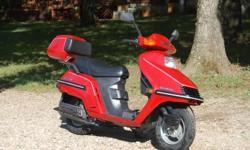 For Sale:1985 Honda Elite 250 cc Scooter. Very nice. Garage Kept. 11,520 miles. 250 cc Water Cooled Engine. Digital Dash. No rips or tears in the seat. Looks very nice. 70 MPG and will run 70 MPH. New Front Tire. New Battery. Asking $1095. Call