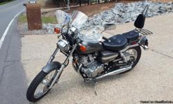 Excellent condition, no scratches or dentes, like new, exterior color:Grey, 4,600 original miles, one owner, windshield, passenger back rest, sissy bar, visor, oil cap, new front tire. Clear title, private seller. Contact (501) 914-0441.