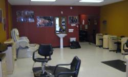 Hair Salon with Hair Coloring, Nail, and Pedicure Set Up.