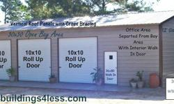 3 Bay Garage/Shop Special HUGE 3 BAY GARAGE/SHOP SPECIAL WITH SEPARATED OFFICE CHECK OUT THIS GREAT BUILDING AT A GREAT PRICE! ________________________________________________ 30X40 OVERALL SIZE (3) 10'X30' BAYS 10'X30' OFFICE AREA (office area separated