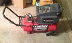 8 GAL. 150 PSIHUSKY AIR COMPRESSON. VERY GOOD CONDITION. HURRY, THIS WON'T LAST LONG. ASK FOR BILL
