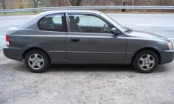 2001 Hyundai Accent Stick Shift easy on Gas Mileage Price: $1950 obo Auto Make: Hyundai Auto Model: Accent Auto Year: 2001 Auto Style: Coupe Auto Color: Brown Auto Mileage: 120954 This is a good running car for a 1st time buyer a great car that gives