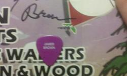WORKED FOR HIM MANY TIMES. THIS WAS AT A FESTIVAL IN FL. WHERE THEY HAD MADE A NICE POSTER. HE SIGNED MINE AND GAVE ME A PERSONALIZED GUITAR PICK. HE THEN TOOK PICS WITH ME AND MY KIDS. I POSTED THE FAMILY PICS AS AN AUTHENTICATOR....