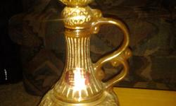 """1980 Jim Beam Decanter. Beautifully made. """"Creation of James B.BeamDistilling Co."""" Genuine Regal China. I have others as well. Price is negotiable. Please put """"James"""" in the title of your email otherwise it will be deleted."""