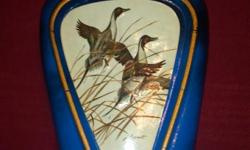"""Jim Beam """"The Pintail"""" Lockhart Painting Decanter/Bottle (approx. 1981) 10 year old - Empty (no liquor in bottle) - Blue Glass - Good Condition - See Pictures $30 OBO Please check out our entire inventory at shop.lrwcandlesandmore.com. We update"""