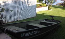 JON BOAT 12' 2005 WITH TROLL MOTOR. $495.00 HAVE GOOD TITLE. THIS IS AN ALL WELD ALUMINUM BOAT. MANUFACTURED BY ALUMACRAFT. HAVE BOOKS ON BOAT AND TROLL MOTOR. TROLL MOTOR MADE BY MINN KOTA CONTACT 318-9MJ-4DEK/318-7K1-8EOF