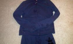 Preowned cute track suit for women Top size XL bottom small You can buy separately for $20