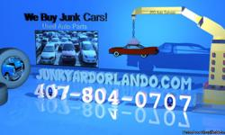 Junkyard Orlando Used Auto Parts Orlando 407-804-0707 http://www.junkyardorlando.com Visit us for used auto parts in Orlando. We sell used car parts from all years, makes and models. We buy junk cars, trucks and vans with cash paid. Sell junk cars for