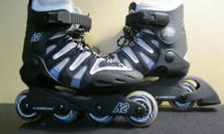 Used 2 times! Excellent condition plus knee, elbow and wrist pads Don't have any other information except it says carbon on the wheels/brakes paid $250 for them..