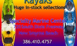 Kayaks, Fishing Kayaks, Paddle Boards, Coolers, Accessories and more. We have what you want at Specialty Marine Center. Based in New Smyrna Beach, we carry new boats by TwinVee, Action Craft, Panga and Berkshire Pontoons. We also have the largest in