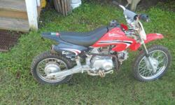 i have Baja Motor sports 70cc dire bike for sale that is in good running order my son dosn't ride it anymore would be a good gift for someone to give