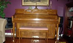 """Kimball piano 44""""ht. Excellent condition. Piano blue book value $6,072.00. Great for students fall piano lessons. Downsizing and need to sell....$1,100.00 obo"""