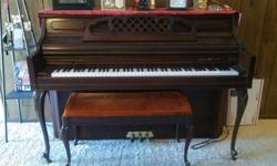 Very nice piano and piano bench for sale call or text 870-331-5606.