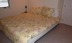 Sterns and Foster, Kingsize bed 2boxsprings, and Mattress and frame, all very clean used only for a short time in guest bedroom.