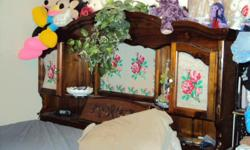 I have a King size bed. it has 4 drawers underneath. contact Tina at --