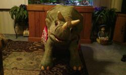 kota the life size baby dinosaur,animated,looks new works great,make a wonderful x-mas gift