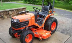 2005 Kubota B7510 4x4 3 cylinder 21 HP engine, that is very easy on #2 diesel,360 hours,60'' belly mower, hydrostatic drive with power steering, in EXCELLENT shape, changed all filters, engine oil and hydro fluid. Asking $9,500 or make an offer, no