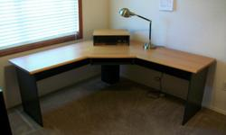 L- Shaped computer desk w/lamp both in excellent condition. Desk retail for $200.00 lamp $49.00. Asking $80.00 for both. If interested call Mr. Best at 706-796-6625.