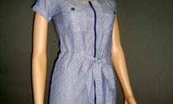 http://www.victoriasfashiononlinestore.com  Victoria's Fashion  Short Sleeve Cotton Shirtdress Material: 100% Cotton Fabric Type: Chambray Cotton Available Size: Small, Medium, Large, XL (U.S size fit).  Price: $39.99 each plus shipping
