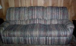 Large three seat Sofa Very heavy ~ durable and sturdy One end opens into a recliner Color as shown in photos In nice pre-owned condition! Ebensburg area