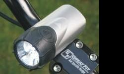 Brand New - $12 Bicycle Headlight includes an easy to use handlebar mounting bracket that allows for convenient quick release when not in use. Can also be used as a flashlight. Super Bright White LED's, 2 Functions: Steady and Flashing, Requires 2 AA
