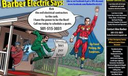 I can help with your residential and small business electrical needs. Same day or next day service, upfront pricing, military and senior discounts. Call Alex 501-515-3031 to schedulean appointment today!