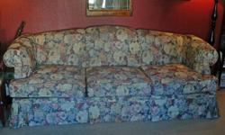 Country multi-color floral print livingroom sofa. Very good condition. Quality, made to last. $300 or best offer.