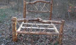 Locally Handmade Aspen Queen SZ. log bed. Bed rails and twigs made from cedar. Please call Jeff (270-519-1121) Please call before 9:00 p.m.